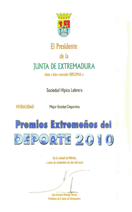 Premios Extremeños del Deporte 2010